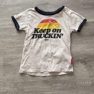 "Prefresh ""keep on trucking"" t shirt"